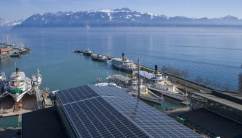 YINGLI PHOTOVOLTAIQUE CHANTIER CGM PORT OUCHY LAUSANNE SUISSE